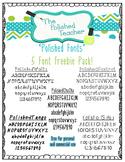 Polished Fonts - 5 Font Freebie Pack