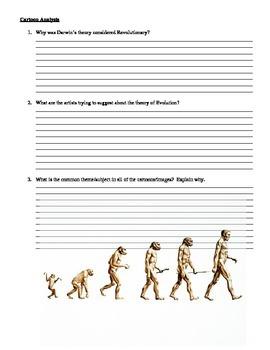 Politcal Cartoon Analysis - Darwinism and Creationism