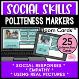 Polite Conversations Appropriate Social Responses No Prep Speech Boom Cards™