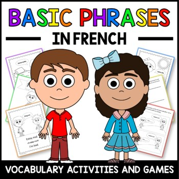 Basic Phrases Activities in French - Les Phrases en Français