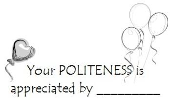 Politeness Appreciation Cards