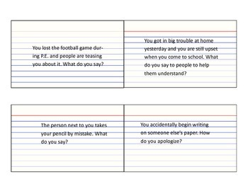 Politeness Role Play Cards