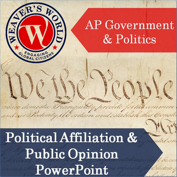 AP Gov Political Affiliation and Public Opinion PowerPoint with Lecture Notes