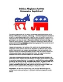 Political Allegiances Activity - Democrat or Republican?