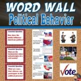 Political Behavior Vocabulary Word Wall Posters (Civics) -