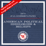 AP Government & Politics Unit Materials- American Political Ideologies & Beliefs