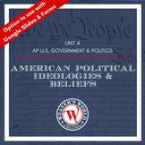 AP Government & Politics Unit 4: American Political Ideologies & Beliefs -US Gov