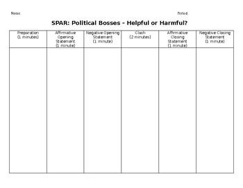 Political Bosses Debate