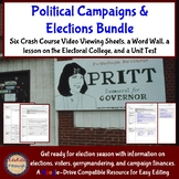 Political Campaigns and Elections Bundle: Crash Course, Word Wall, Test