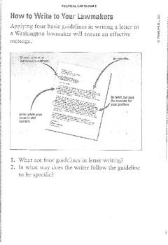 Political Cartoon #5 - How to write your representative