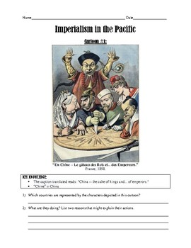 Political Cartoon Activity - Imperialism in the Pacific