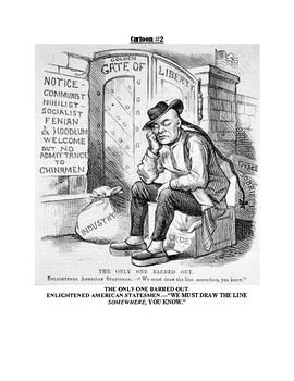 Political Cartoon Activity - Nativism *BUNDLE* {English & Spanish}