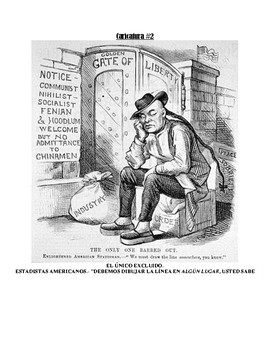 Political Cartoon Activity - Nativism {Spanish Version!}