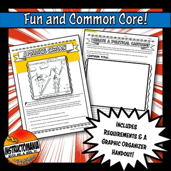 How to Make A Political Cartoon Activity Worksheet with Template for History Fun