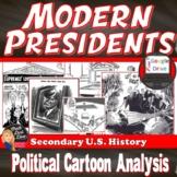 Modern America |Political Cartoon Analysis | DISTANCE LEARNING | Print & Digital