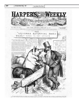 Political Cartoon Analysis of the election of 1876
