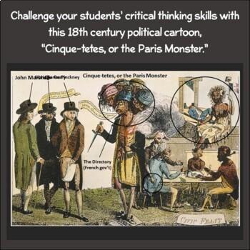 Political Cartoon: Cinques-Tetes, or the Paris Monster
