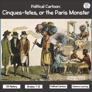 Political Cartoon: Cinques-Tetes, or the Paris Monster