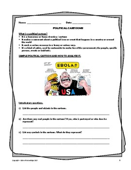 Political Cartoon Introductory Worksheet