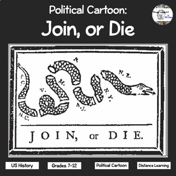 political cartoon join or die by around the world in 180 days tpt. Black Bedroom Furniture Sets. Home Design Ideas