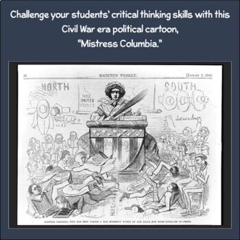 Political Cartoon: Mistress Columbia