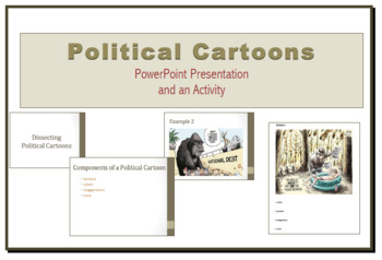 Political Cartoon PowerPoint Presentation and Handout
