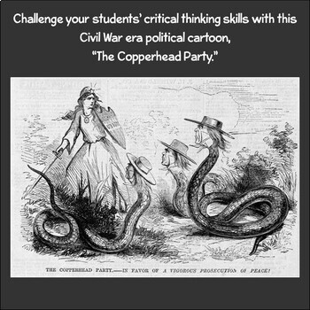 Political Cartoon: The Copperhead Party