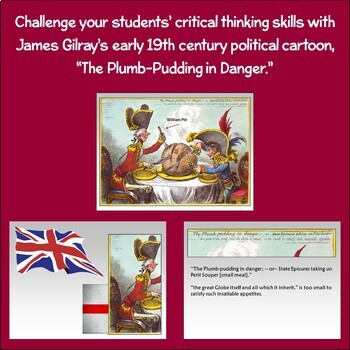 Political Cartoon: The Plumb-Pudding in Danger