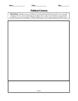Political Cartoon Worksheet