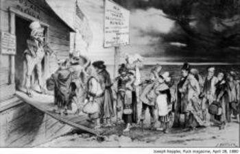 Political Cartoons; 1800's U.S. immigration, nativism - Common Core resource