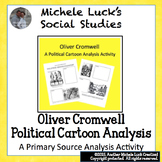 Political Cartoons Activity on Oliver Cromwell and English Civil War