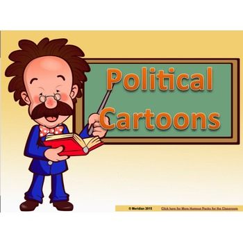 political cartoons powerpoint slide deck by meridian tpt