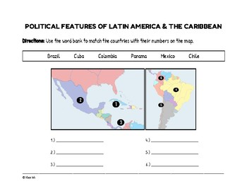 Political Features of Latin America & the Caribbean (Worksheet)