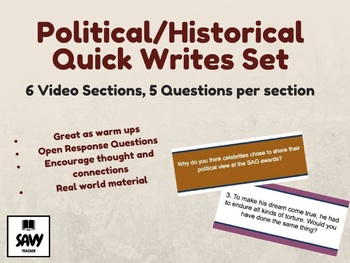 Political/Historical Quick Writes