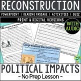 Political Impacts of Reconstruction, US Civil War