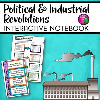 Political & Industrial Revolutions Interactive Notebook Unit  French