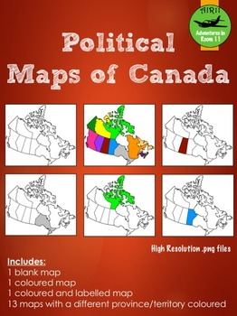 Political Maps of Canada Bundle
