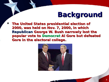 US Presidential Elections - Summary - Election of 2000