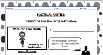 Political Parties - Civics SOL: Functions, Similarities, & 3rd Parties