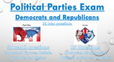 Political Parties (Democrats and Republicans) Exam