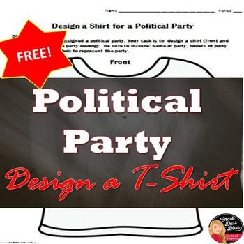 Political Parties – Design a T-Shirt Activity (Minor/Third