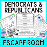 Political Parties ESCAPE ROOM:  Democrat and Republican views on issues