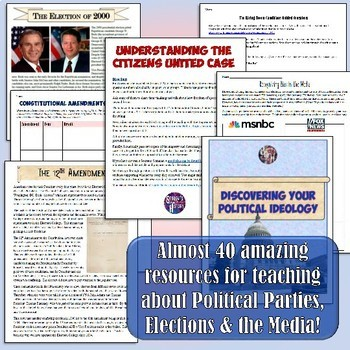 Political Parties & Elections: American Government & Civics Unit Bundle