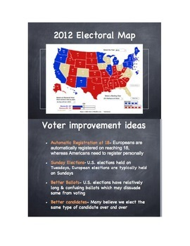 Political Parties & Elections PowerPoint & NoteSheet