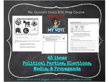 Political Parties, Elections, Propaganda, & Media- Interactive Notebook UNIT