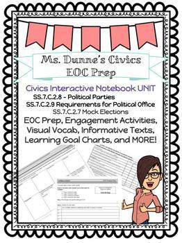 Political Parties, Elections, and Media Influence Interactive Notebook Unit