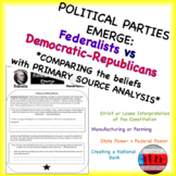Compare the First Two Political Parties Federalist and Democratic Republican