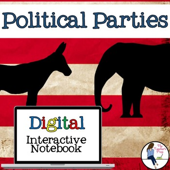 Political Parties Interactive Notebook for Google Drive