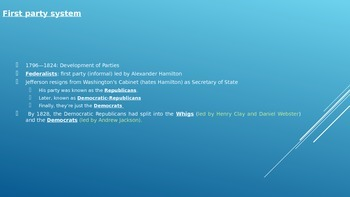 Political Parties PowerPoint (Government and/or Civics)