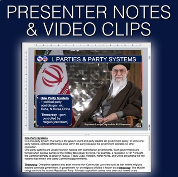 Political Parties PowerPoint w/video clips & presenter notes